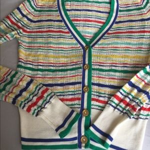 Juice couture Colorful striped cardigan